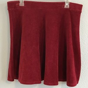 Red Corduroy skater skirt